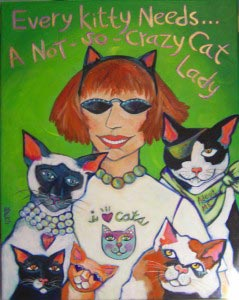 Not So Crazy Cat Lady Art