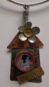 Custom pet pendant - Cat Haus I or Dog Haus I pendant by Mary W. Smith