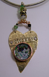 Custom pet pendant - Cat Haus II or Dog Haus II pendant by Mary W. Smith