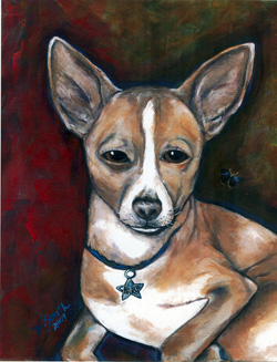 Custom pet portrait - Charlie by Mary W. Smith