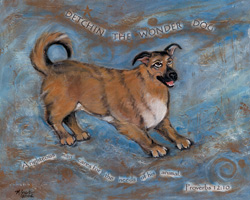 Custom pet portrait - Detchin by Mary W. Smith