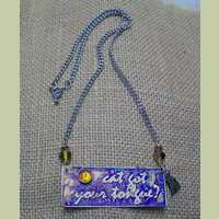 'Cat Got Your Tongue?' Necklace with Amber