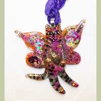 Butterfly Fairy Kitty Pendant