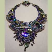 Flying Siamese Bead Embroidery Necklace