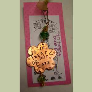 Purrfectly Arfsome Cat Tag If it Tweetz do not Eatz Fashion Cat Tag