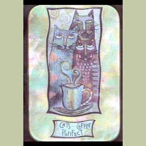 Cats Coffee Purrfect glass tray Glass Tray X