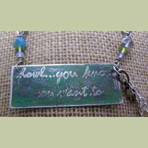 Howl You Know You Want To Dog Lovers Necklace Dog Themed Necklace