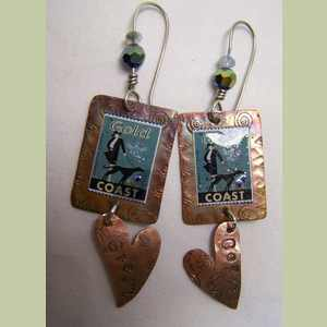 Greyhound Heart Earrings Greyhound Earrings