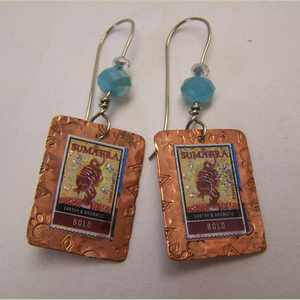 Tiger Earrings with Sumatra Tiger Stamp Stamp Earrings