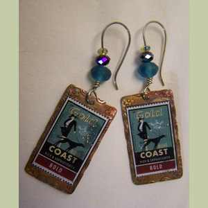 Greyhound Stamp Earrings Greyhound Earrings