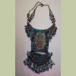 Eternity Bead Embroidery Necklace Bead Embroidery Necklace