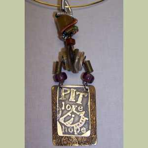 Pit Bull Love and Hope Pendant Dog Themed Pendant